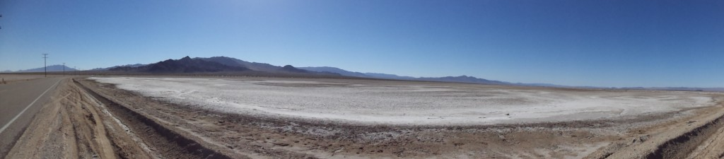 Salt flats and open road